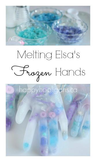 Melting-Elsas-Frozen-Hands-Activity FROZEN Kids Craft Activities & Tutorial