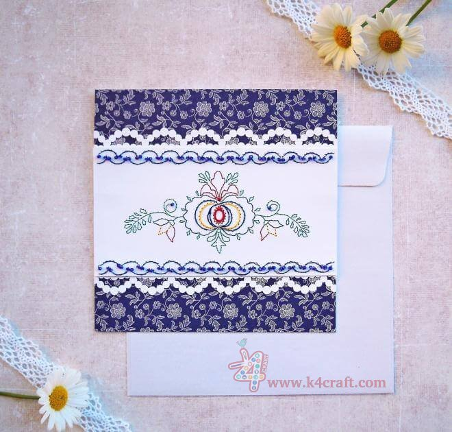 Paper-Embroidery-card-k4craft-featured DIY: Folk Style on paper - Paper Embroidery