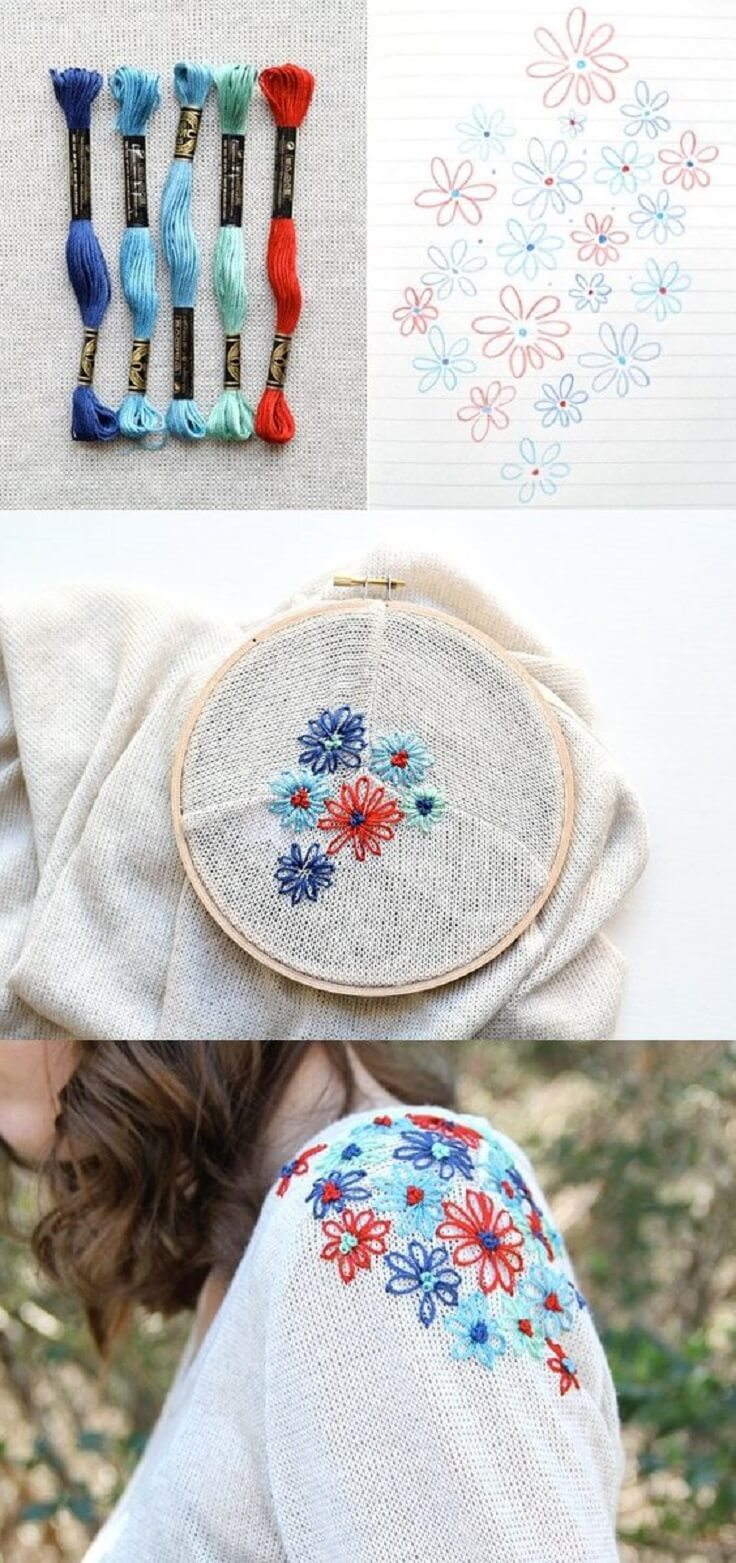 Wonderful-DIY-Sweater-Makeover-k4craft DIY Clothing Hacks to Refashion Your Clothes