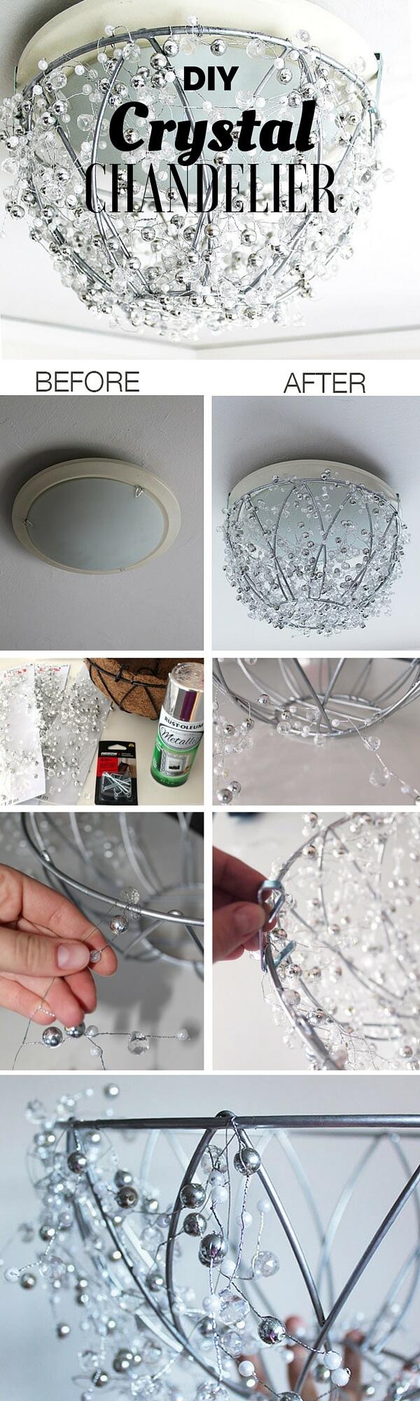 crystal-chandalier-k4craft Easy DIY Home Decor Crafts - Step by step