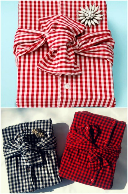 diy-creative-gift-wrapping-ideas-With-shirt-for-him-boyfrind Unique & Adorable Gift Wrapping Ideas
