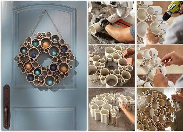 diy-pvc-pipe-door-wreath DIY Creative Uses Of PVC Pipes - Step by step