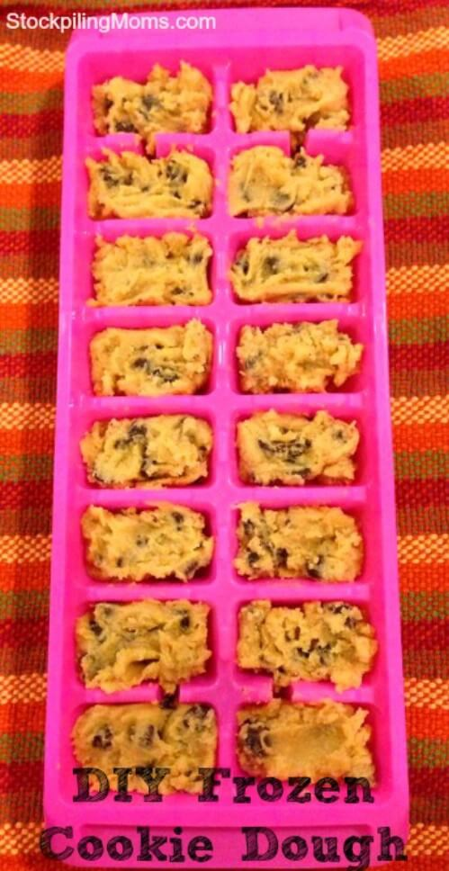 frozen-cookie-dough-k4craft Clever DIY Projects: Creative way to Use of Ice Cube Tray