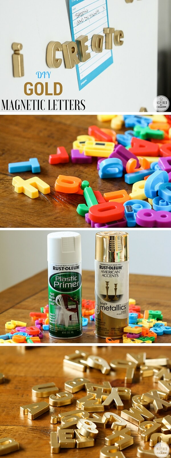gold-magnetic-letters-k4craft Easy DIY Home Decor Crafts - Step by step