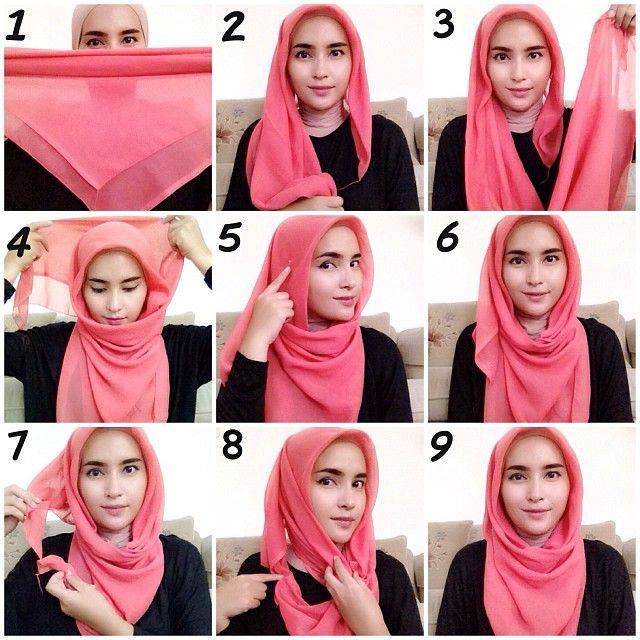 hijab-styles-step-by-step- Amazing Hijab Styles - Step by Step