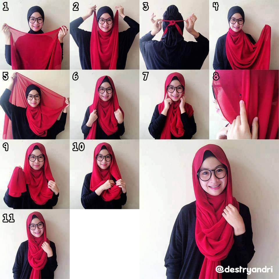 hijab-styles-step-by-step-Amazing Hijab Styles - Step by Step