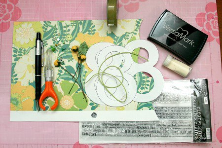 scrapbooking-card-8-March-k4craft-Creative DIY Scrapbooking Postcard March 8
