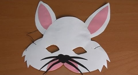 Handicraft-rabbit-mask DIY Simple Animal face mask Craft Ideas for kids