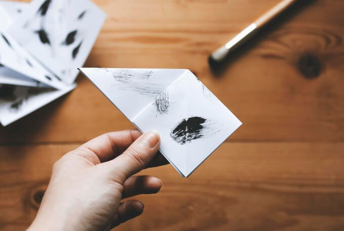 Origami-crane-and-twig-Origami Crane (bird) and twig