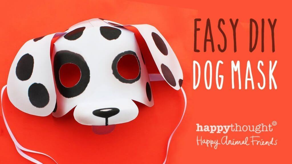 diy-dog-mask DIY Simple Animal face mask Craft Ideas for kids