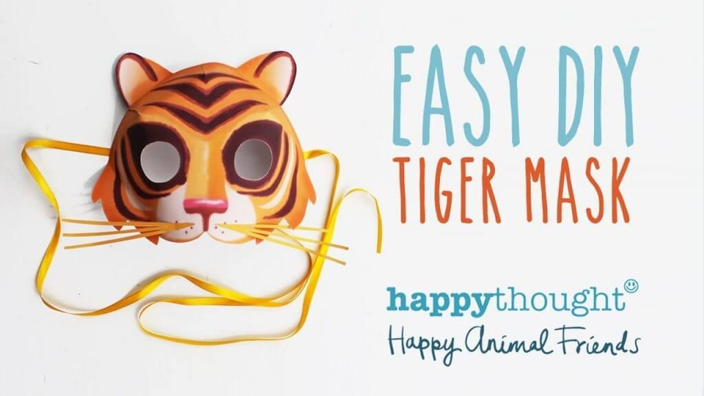 diy-tiger-mask DIY Simple Animal face mask Craft Ideas for kids