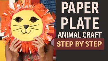 paper-plate-lion DIY Simple Animal face mask Craft Ideas for kids DIY Simple Animal face mask Craft Ideas for kids