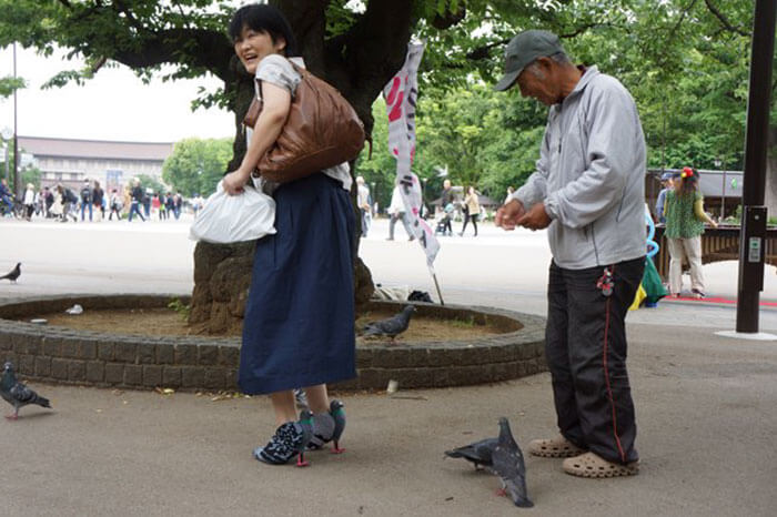 pigeon-shoes-japanese-woman-Woman shoes made in the form of pigeon [Tutorial]