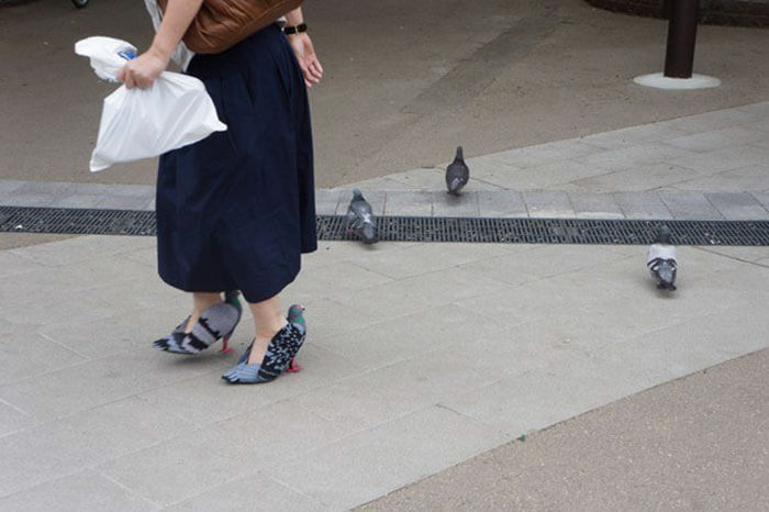 pigeon-shoes-japanese-woman Woman shoes made in the form of pigeon [Tutorial]
