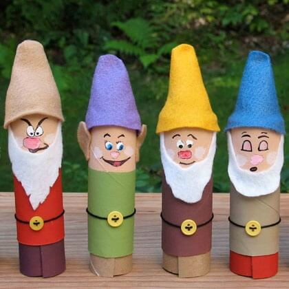 tissue-tube-seven-dwarfs-craft-photo Creative DIY Toilet Paper Roll Craft Ideas and Tutorials