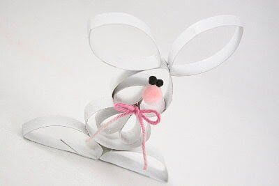 toilet-paper-roll-bunny-Creative DIY Toilet Paper Roll Craft Ideas and Tutorials