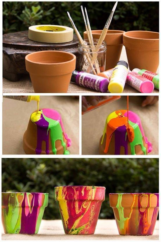 DIY Painted Flower Pots Affordable Home Improvement DIY Projects