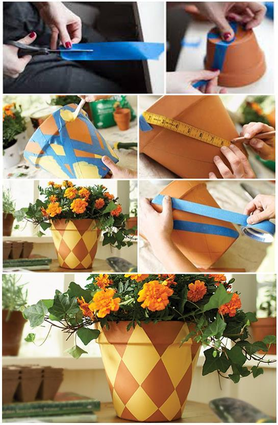 DIY Painted Terracotta Flower Pot Affordable Home Improvement DIY Projects