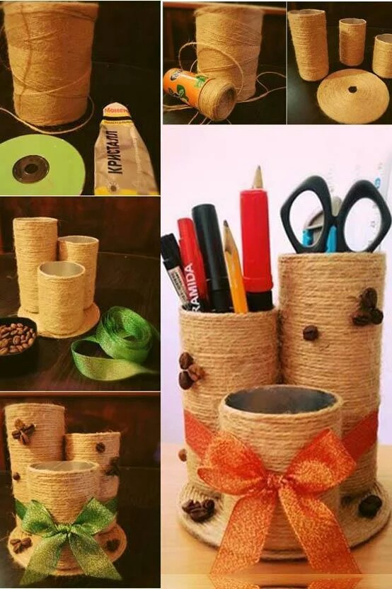 DIY Jute Desk Holder Affordable Home Improvement DIY Projects