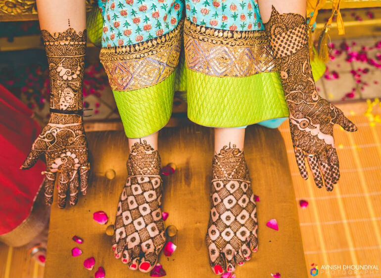 Dandiya mehndi design for legs Stylish Mehndi Designs for Hand & Legs