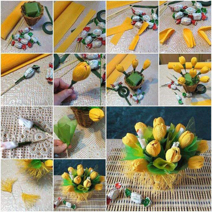How to make crepe paper Flowers Bouquet How to make Flower Bouquet - Step by step Ideas
