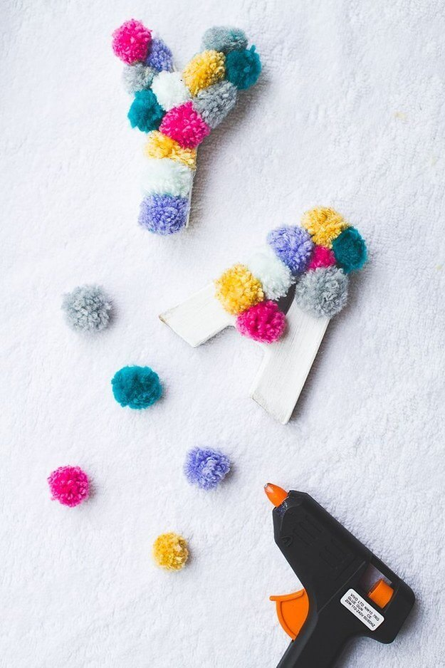 Their Name in Poms Cheap And Easy Last-Minute DIY Gifts Ideas