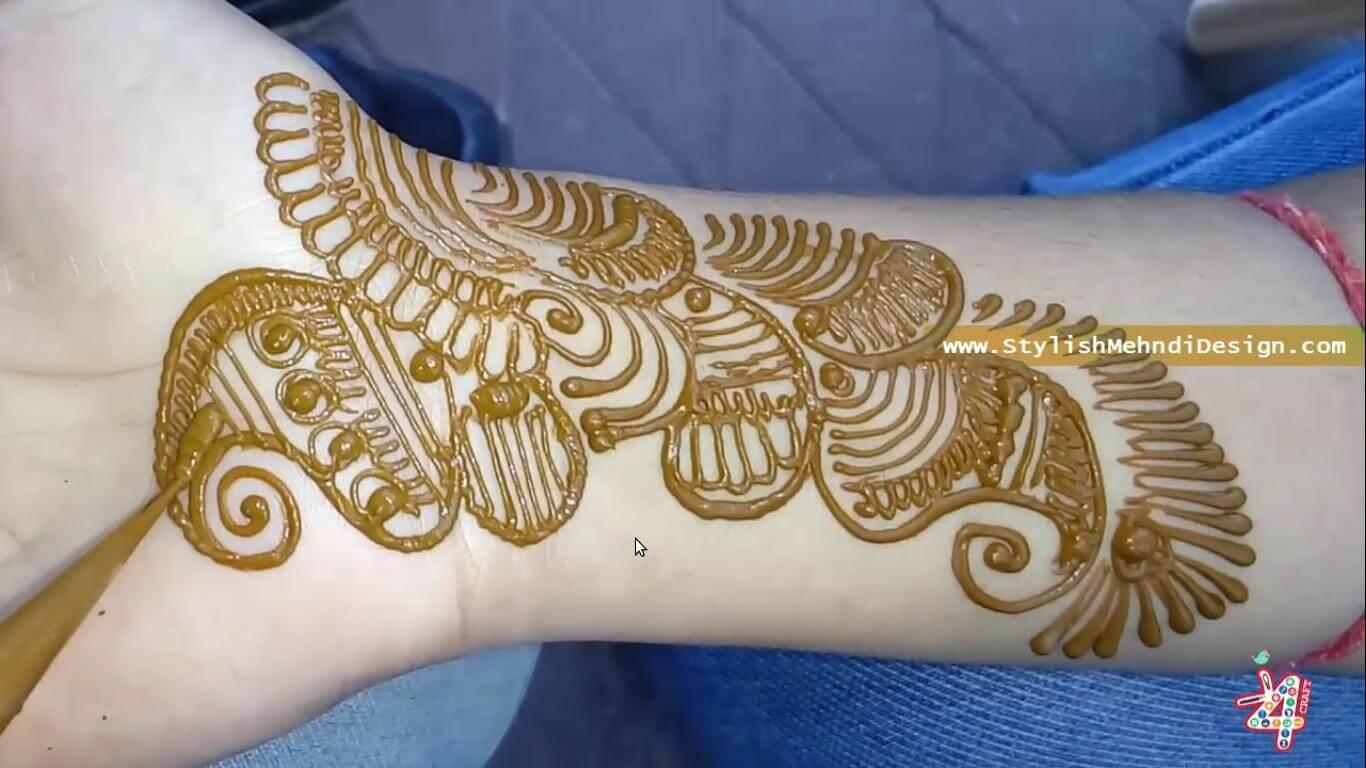 Arabic Mehndi Design for Hand - Raksha Bandhan Special