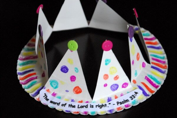 DIY Paper Plate Crown Birthdays, Crafts and Kids