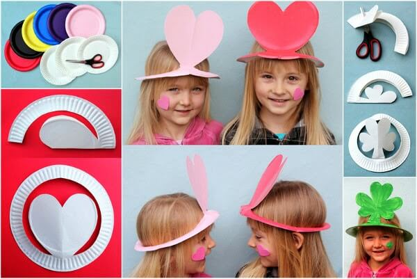 Beautiful Sunhat for kids from paper plate for kids DIY Party Hats for Toddlers | Birthday & Festivals