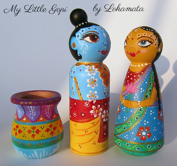 Paint Your Own Super Cute Peg Dolls By   Dress up like Krishna on Krishna Janmashtami