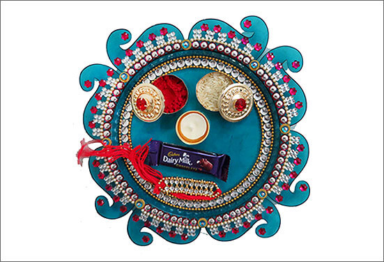Bamboo Plate Decoration Best Ways to decorate Thali for Rakhi at Rakshabandhan