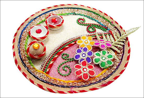 Bronze Royalty Thali Decoration Best Ways to decorate Thali for Rakhi at Rakshabandhan