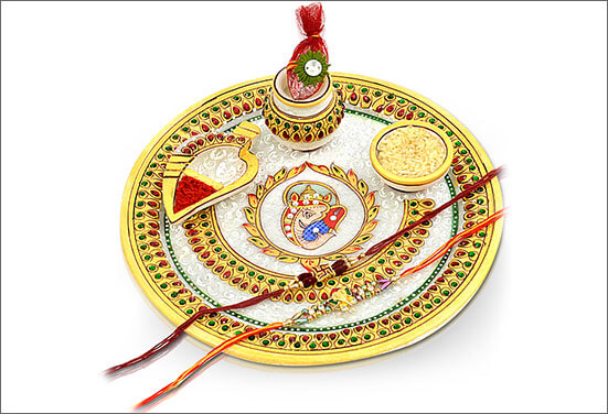 Designer Thali Decorations Best Ways to decorate Thali for Rakhi at Rakshabandhan