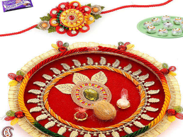 Bronze Royalty Thali Decoration idea Best Ways to decorate Thali for Rakhi at Rakshabandhan