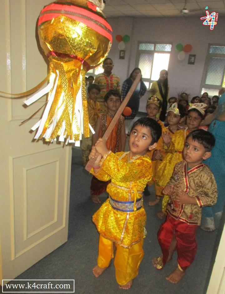 Krishna Janmashtami: Matki phod kids Celebration  Dress up like Krishna on Krishna Janmashtami