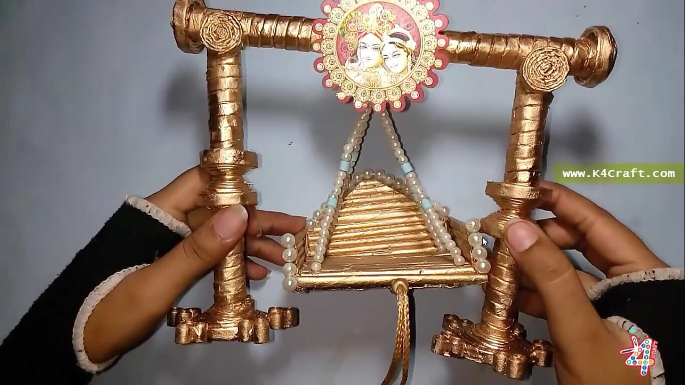 How to make Newspaper Jhula for Bal Gopal - Janmashtami Special