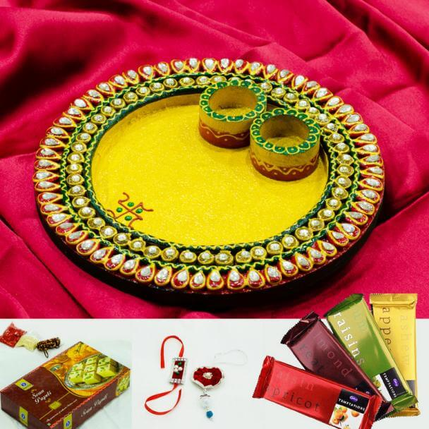 Beautiful Rakhi Thali Decoration Ideas Best Ways to decorate Thali for Rakhi at Rakshabandhan