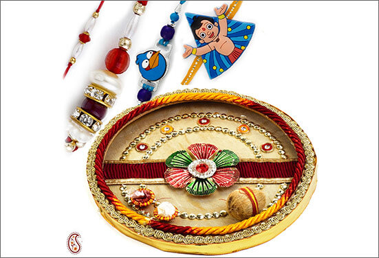 Steel Thali Decoration Best Ways to decorate Thali for Rakhi at Rakshabandhan