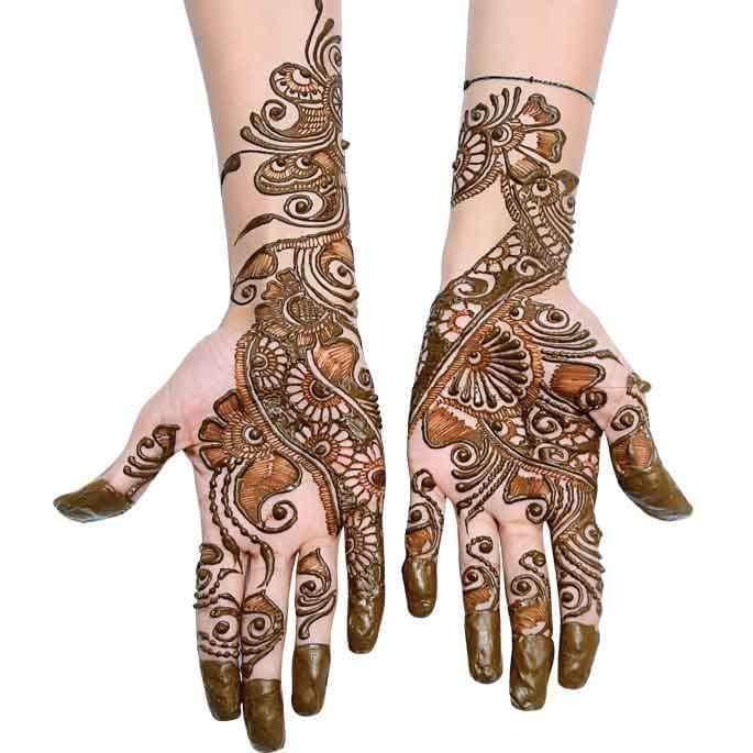 Stylish Mehndi Designs For Durga Puja - Navratri Mehndi Designs