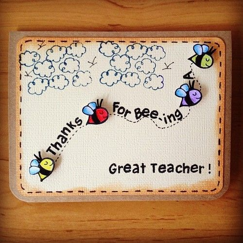 Thank you for Bee-ing a Great Teacher Awesome Teachers' Day Gift Ideas with Thank You Cards