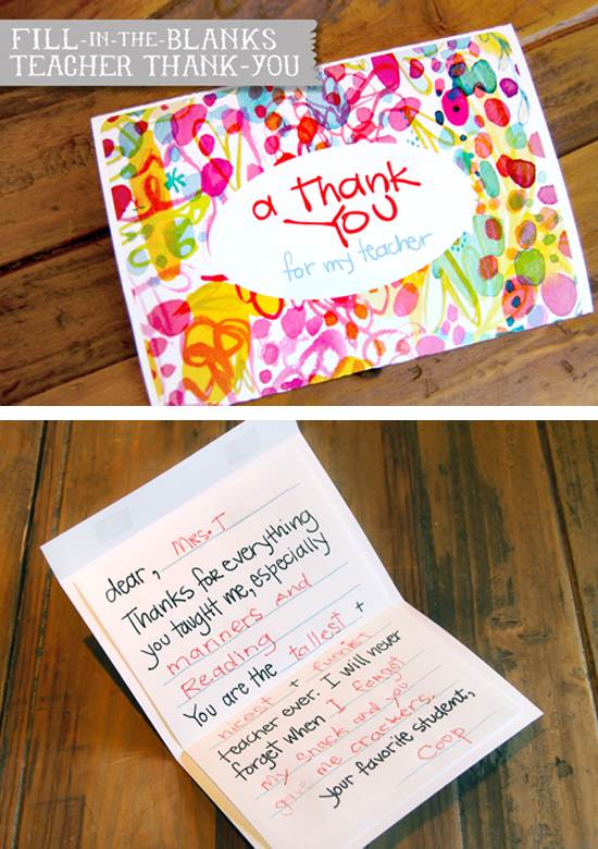 A Teachers day Thank You Card Awesome Teachers' Day Gift Ideas with Thank You Cards