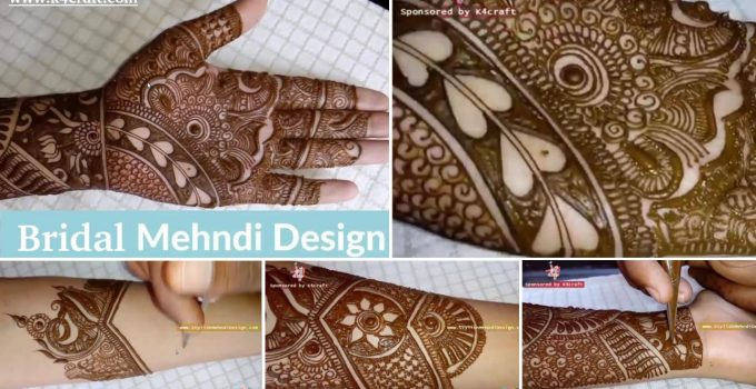 mehndi design bridal hand