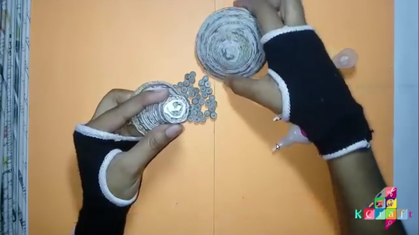 How to make Newspaper Candle Holder / Stand at Home - Step by step