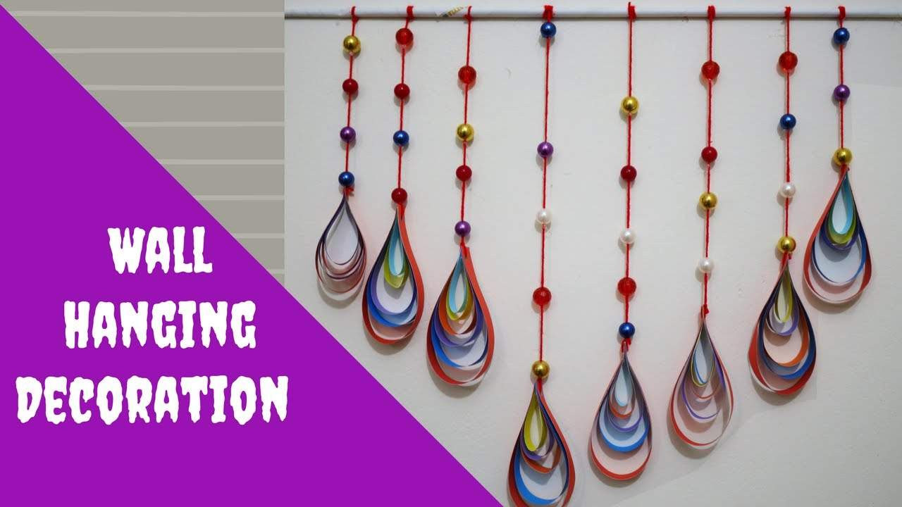Paper & Beads Wall Hanging Crafts Decoration Ideas DIY Easy Wall Hanging Craft Ideas & Tutorials