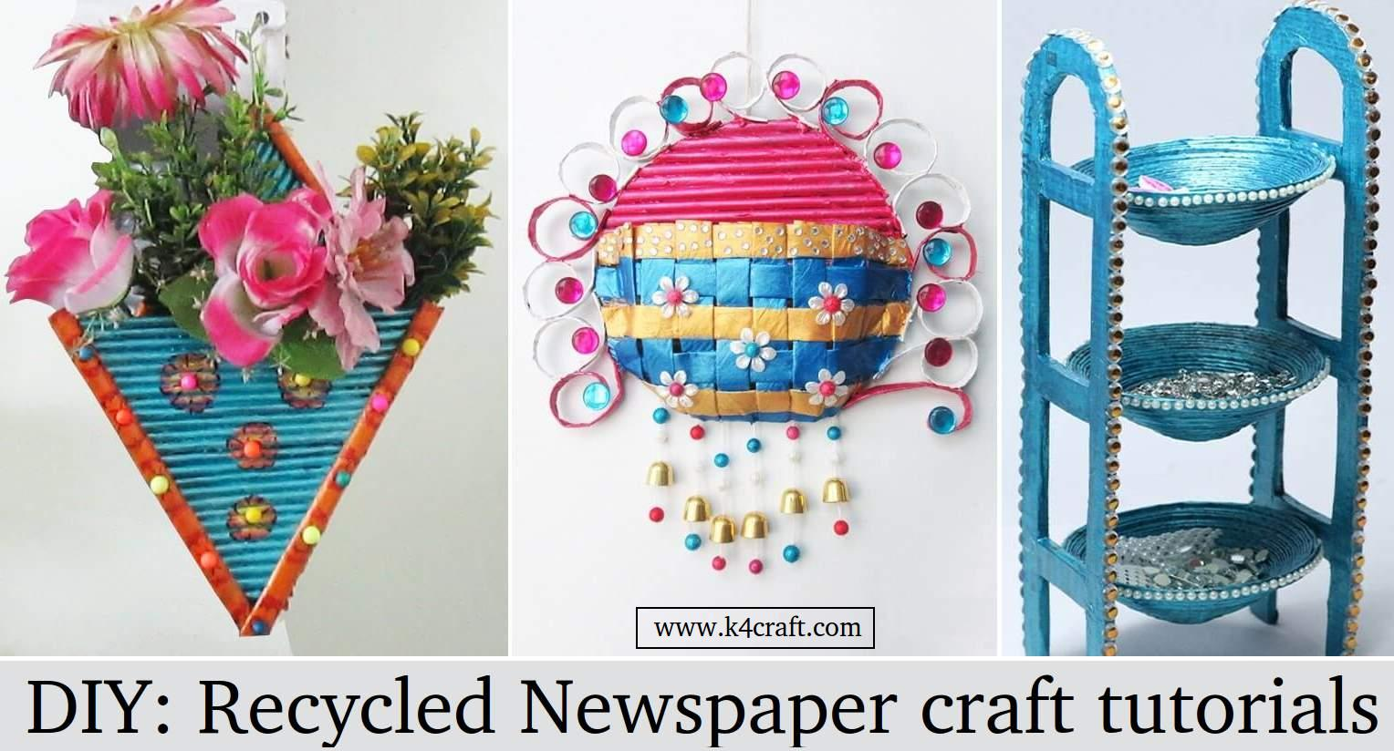 Craft tutorials from Old Newspapers & Magazines - Step by step