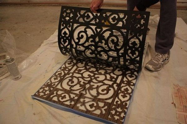 DIY Doormat Wall Art  Easy to Make DIY Home Decorating Ideas