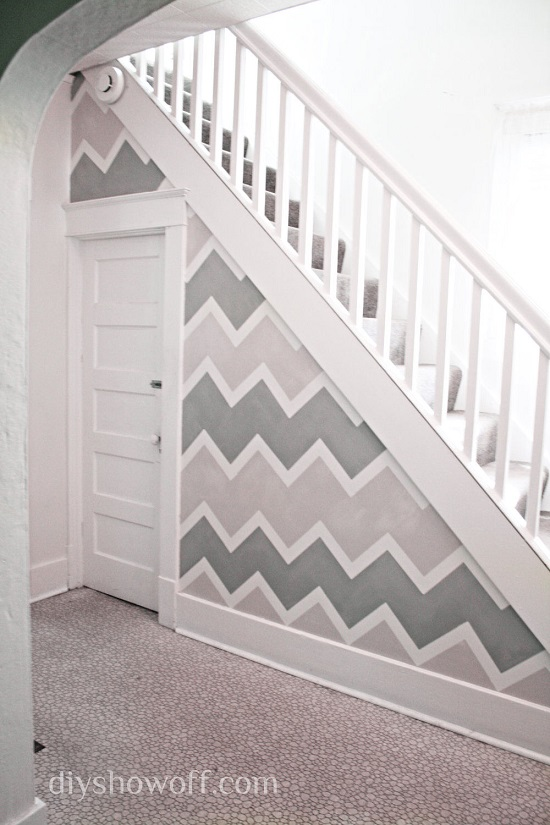 DIY Chevron Accent Wall  Easy to Make DIY Home Decorating Ideas
