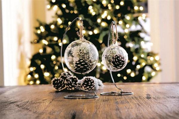 Hanging Pine Cone Terrariums DIY Holiday Pine Cones Craft Ideas
