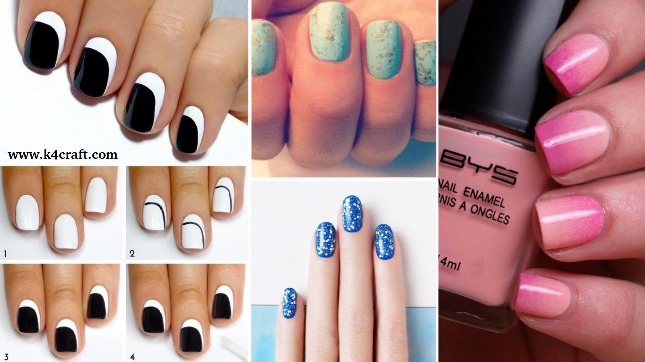 15 Simple Nail Art Designs for Lazy Girls - Step by step • K4 Craft