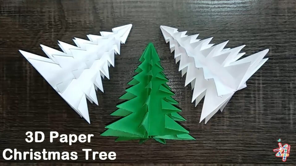 Christmas Craft DIY : How to Make 3D Paper Christmas Tree